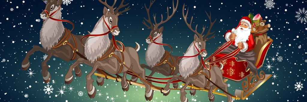 Santa Claus Merry Christmas Twitter Header 1500x500