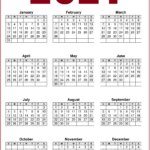 2021 Calendar Printable One Page Free - Free Download