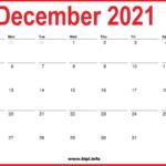 2021 December Calendar Printable – Monthly Calendar