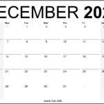 December 2020 Calendar Printable Monthly – Free Download