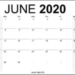 June 2020 Calendar Printable Monthly – Free Download