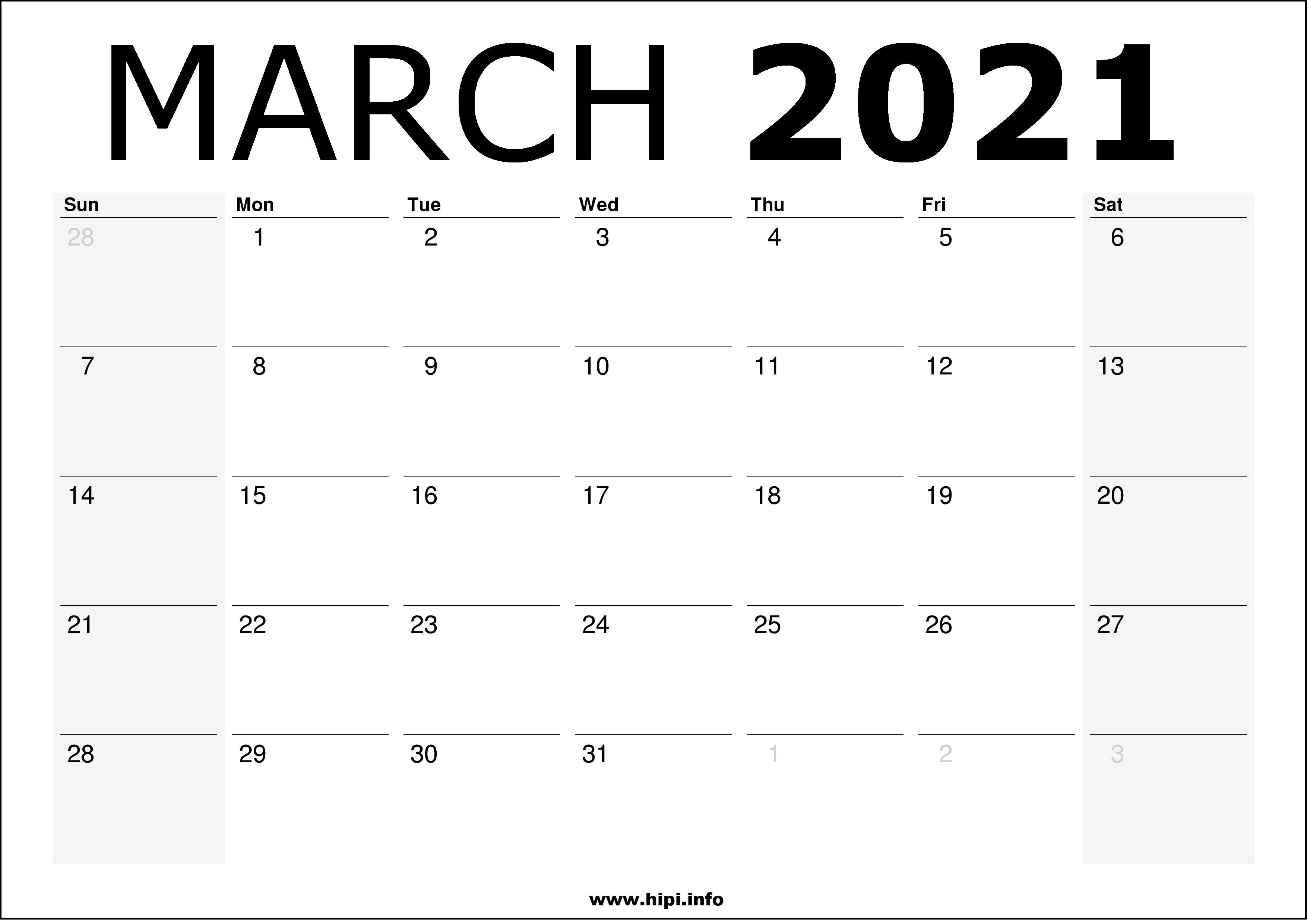 Free Printable Wall Printable Printable March 2021 ...