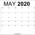 May 2020 Calendar Printable Monthly – Free Download
