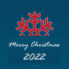 Christmas Card 2022 - Free Printable - Big Snowflake