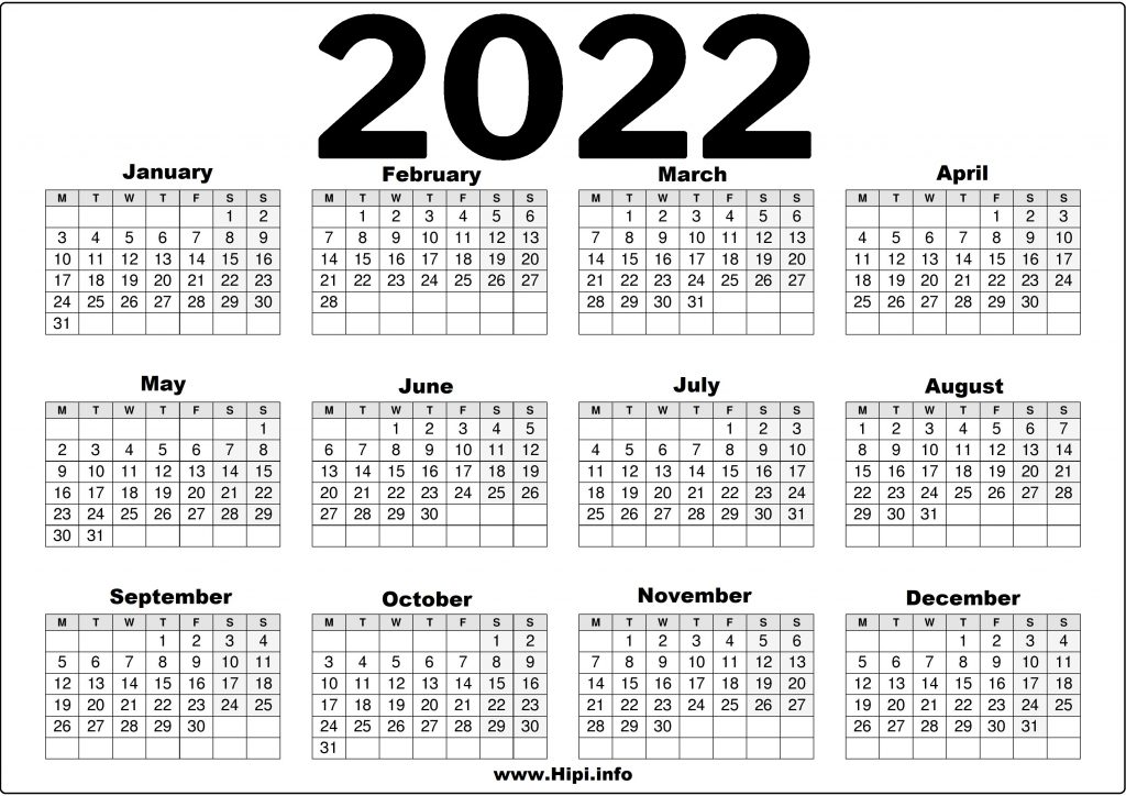 2022 United Kingdom (UK) Calendar Printable Free