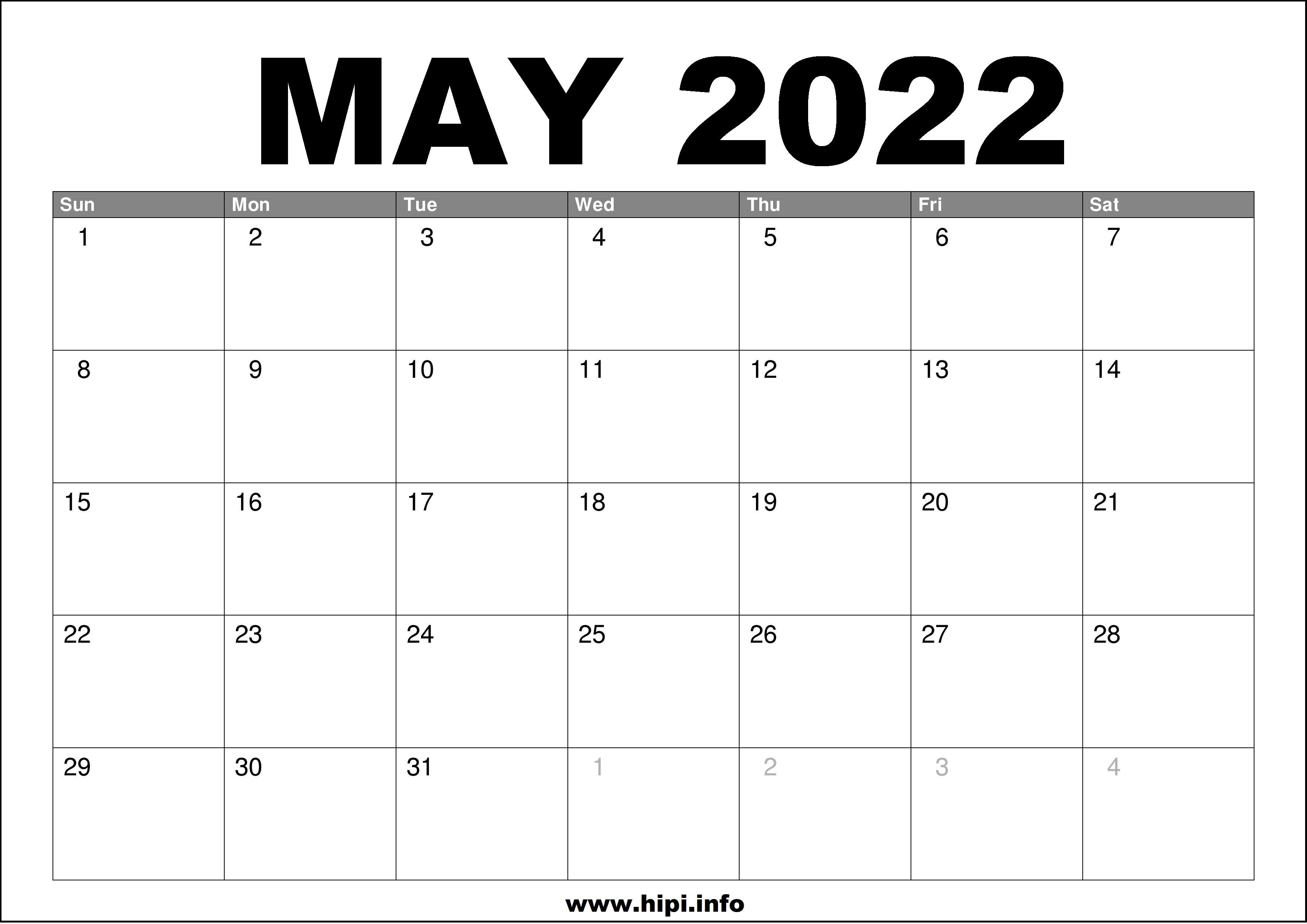 Motmg 2022 Calendar.May Calendar 20220