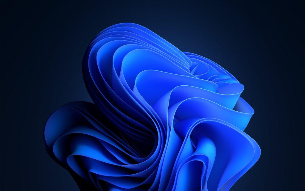 New Windows 11 Wallpaper Dark Blue
